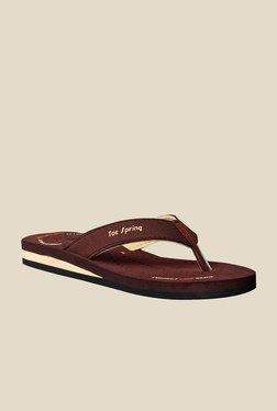 Toe Spring Brown & Beige Flip Flops