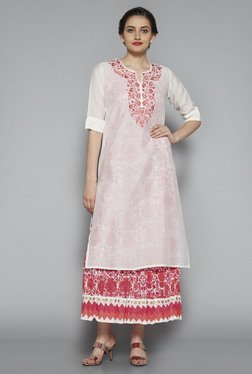 Vark by Westside Off White Embroidered Kurta