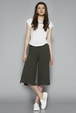 Nuon by Westside Olive Striped Culottes