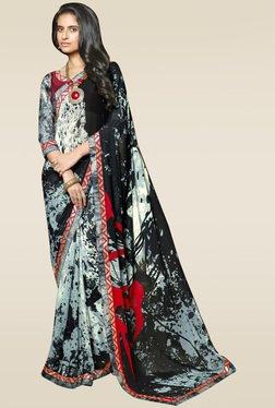 RCPC Black Printed Saree With Blouse