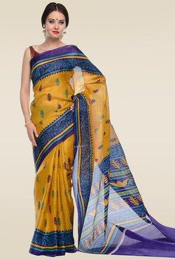 RCPC Yellow Art Silk Saree With Blouse