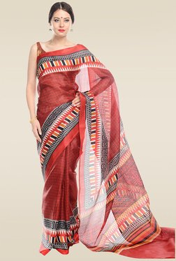 RCPC Red Art Silk Saree With Blouse
