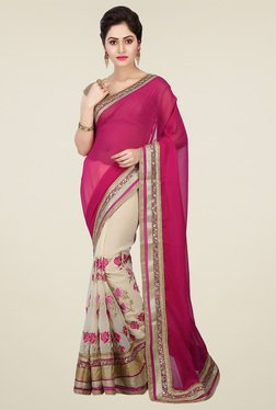 RCPC Pink Georgette & Net Saree With Blouse
