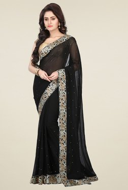RCPC Black Zari Saree With Blouse