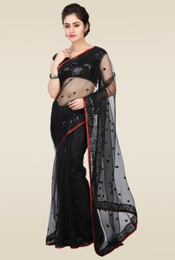 RCPC Black Net Saree With Blouse