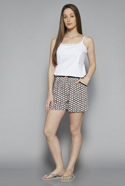 Intima by Westside Grey Heart Print Shorts