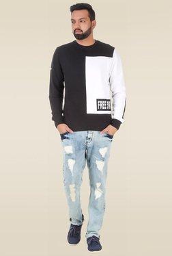 Spunk Black Round Neck Sweatshirt