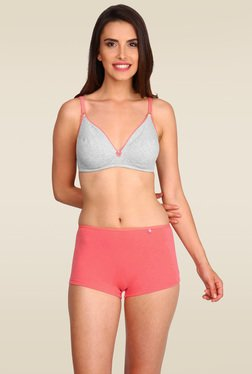 Jockey Light Grey Melange   Peach Fit Bra - 3101 fdc877a44