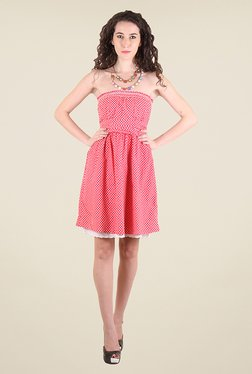 Chimera Red Polka Dot Dress
