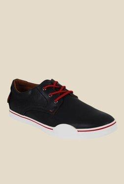 Numero Uno Black & Red Derby Shoes