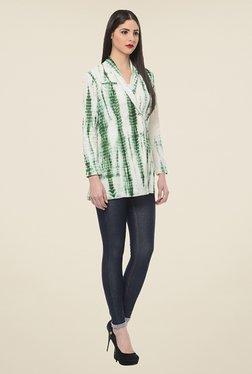 ANS Green Tie Dye Coat