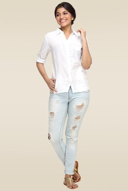 Loco En Cabeza White Cotton Shirt