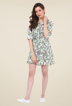 Rena Love Off White Printed Dress