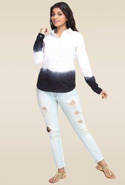 Loco En Cabeza White Full Sleeves Shirt