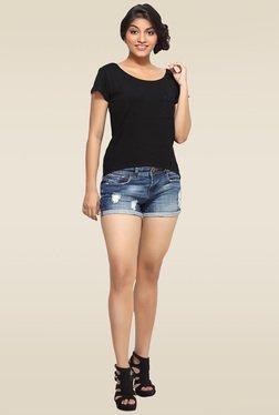 Loco En Cabeza Black Short Sleeves Regular Fit Top