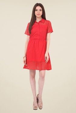 Rena Love Red Solid Dress