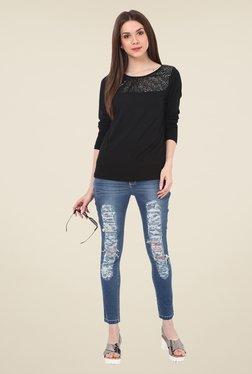 Rena Love Black Embellished Top