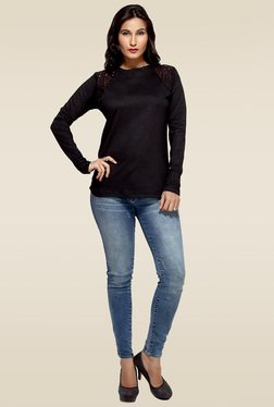 Loco En Cabeza Black Cotton Top