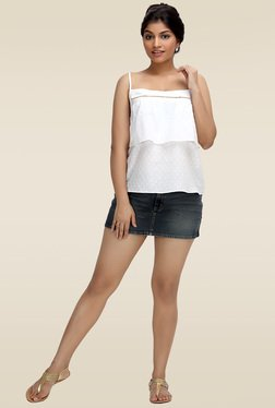 Loco En Cabeza White Cotton Top