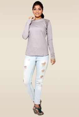 Loco En Cabeza Grey Cotton Top