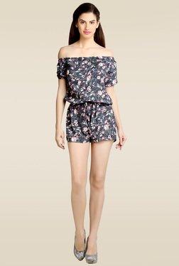 Loco En Cabeza Grey Printed Jumpsuit