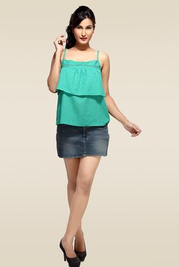 Loco En Cabeza Green Cotton Top