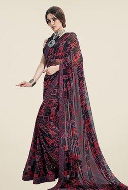 Ishin Black Printed Georgette Saree - Mp000000000942181