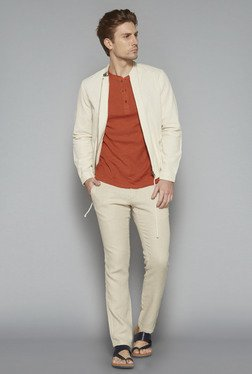 ETA By Westside Beige Slim Fit Trousers
