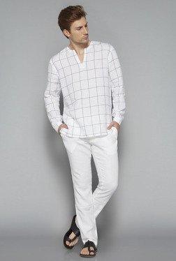 ETA By Westside White Slim Fit Trousers