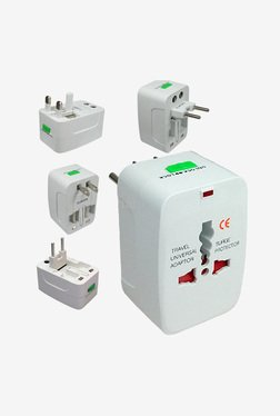 Novel Universal World Wide Travel Charger Adapter (White)