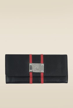 Kara Red And Black Leather Wallet