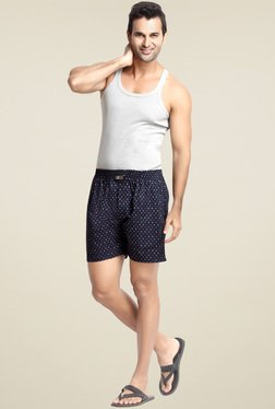 London Bee Navy Regular Fit Cotton Boxers
