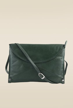 Kara Olive Green Leather Sling Bag