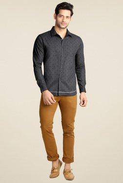 London Bee Black Shirt Collar Shirt