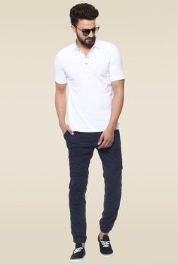 Mufti Navy Mid Rise Joggers