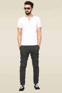 Mufti Grey Mid Rise Joggers