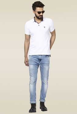 Mufti Mid Blue Mid Rise Jeans