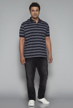 Oak & Keel by Westside Navy Relaxed Fit Polo T Shirt