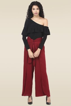 Ridress Maroon Regular Fit Palazzo Pants