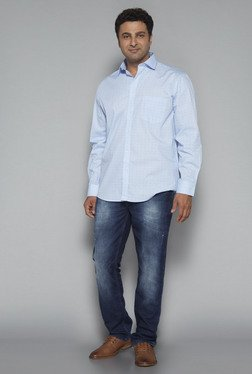 Oak & Keel by Westside Light Blue Relaxed Fit Shirt