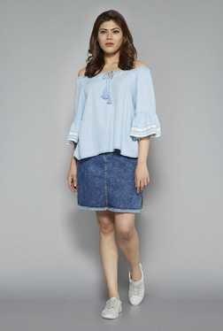 Sassy Soda By Westside Blue Zori Denim Skirt