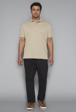 Oak & Keel by Westside Beige Relaxed Fit Polo T Shirt