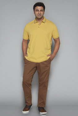 Oak & Keel by Westside Mustard Relaxed Fit Polo T Shirt