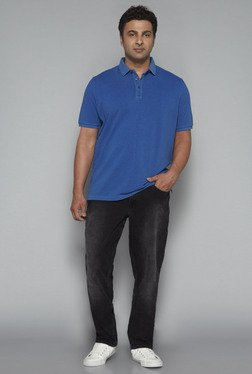 Oak & Keel by Westside Blue Polo T Shirt