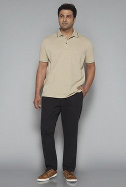 Oak & Keel by Westside Black Solid Chinos