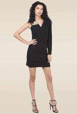 Ridress Black V Neck Off Shoulder Dress
