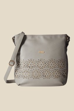 Lavie Dover CSB Grey Laser Cut Small Sling Bag