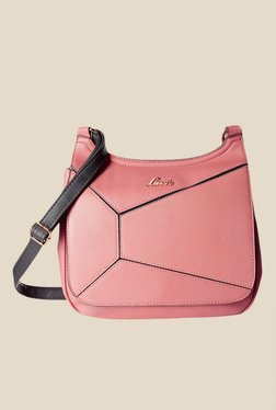 Lavie Dover CSB Pink Textured Small Sling Bag