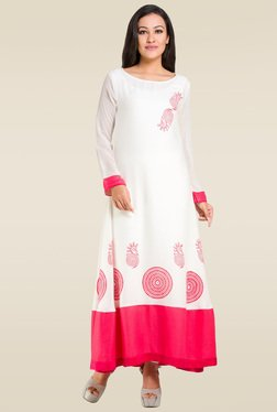 Ruham Off White Regular Fit Kurta
