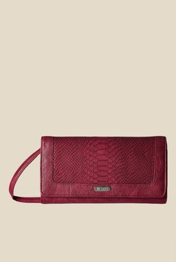 Lavie Dover Maroon Textured Wallet